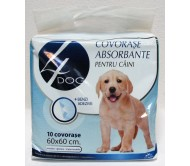 Covorase absorbante pentru caini 4DOG, 60x60 cm, 10 bucati