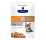 Hill's PD k/d + Mobility Kindney + Joint Care hrana pentru pisici 85 g (plic)