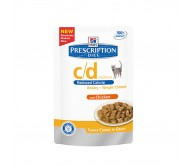 Hill's PD c/d Urinary Stress Reduced Calorie Urinary Care hrana pentru pisici cu pui  85 g