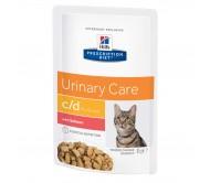 Hill's PD c/d Urinary Care hrana pentru pisici cu somon 85 g (plic)
