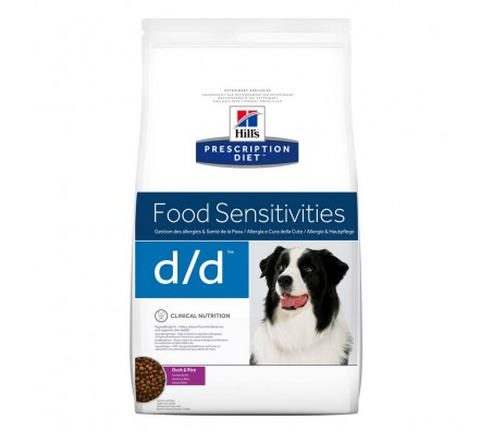 Hill's PD d/d Food Sensitivities hrana pentru caini cu rata si orez 5 kg
