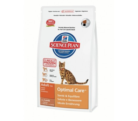 Hill's Science Plan Feline Adult Optimal Care cu Miel 2 kg