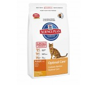 Hill's Science Plan Feline Adult Optimal Care cu Pui 15 kg