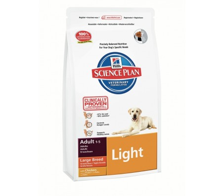 Hill's Science Plan Canine Adult Large Breed Light cu pui 12 kg