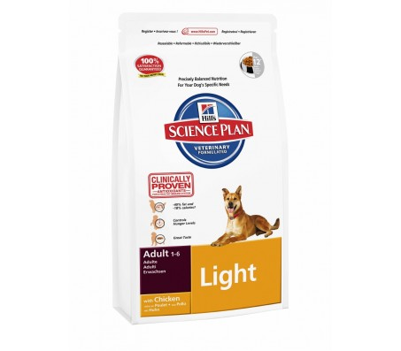 Hill's Science Plan Canine Adult Light cu pui 3 kg