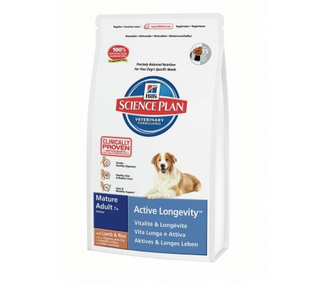 Hill's Science Plan Canine Active Longevity Mature Adult 7+ cu Miel si Orez 3 kg