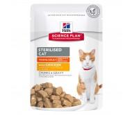 Hill's SP Sterilised Cat Young Adult hrana pentru pisici cu pui 85 g (plic)