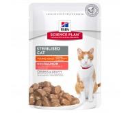 Hill's SP Sterilised Cat Young Adult hrana pentru pisici cu somon 85 g (plic)