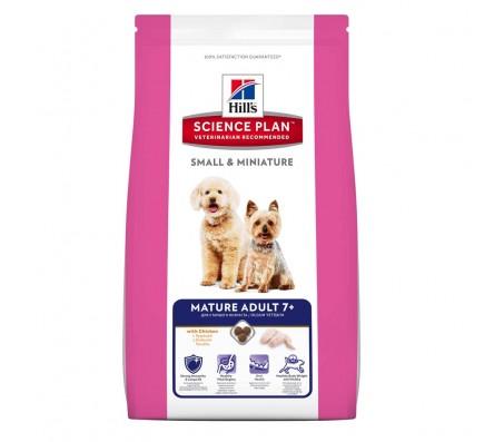 Hill's SP Mature Adult 7 Plus Small and Miniature hrana pentru caini cu pui 3 kg
