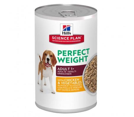 Hill's SP Adult Perfect Weight hrana pentru caini cu pui si legume 363 g (conserva)