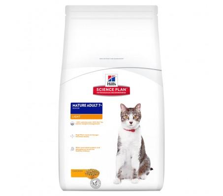 Hill's SP Mature Adult 7 Plus Light hrana pentru pisici cu pui 1.5 kg