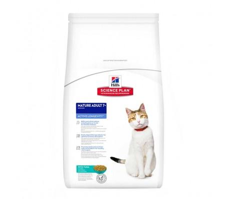 Hill's SP Mature Adult 7 Plus Active Longevity hrana pentru pisici cu ton 2 kg