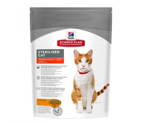Hill's SP Sterilised Cat Young Adult hrana pentru pisici cu pui 300 g